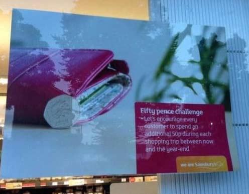 Sainsburys 50p challenge
