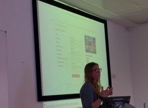 Me, presenting some serious CRO at SIMS (credit: R Cheesley)