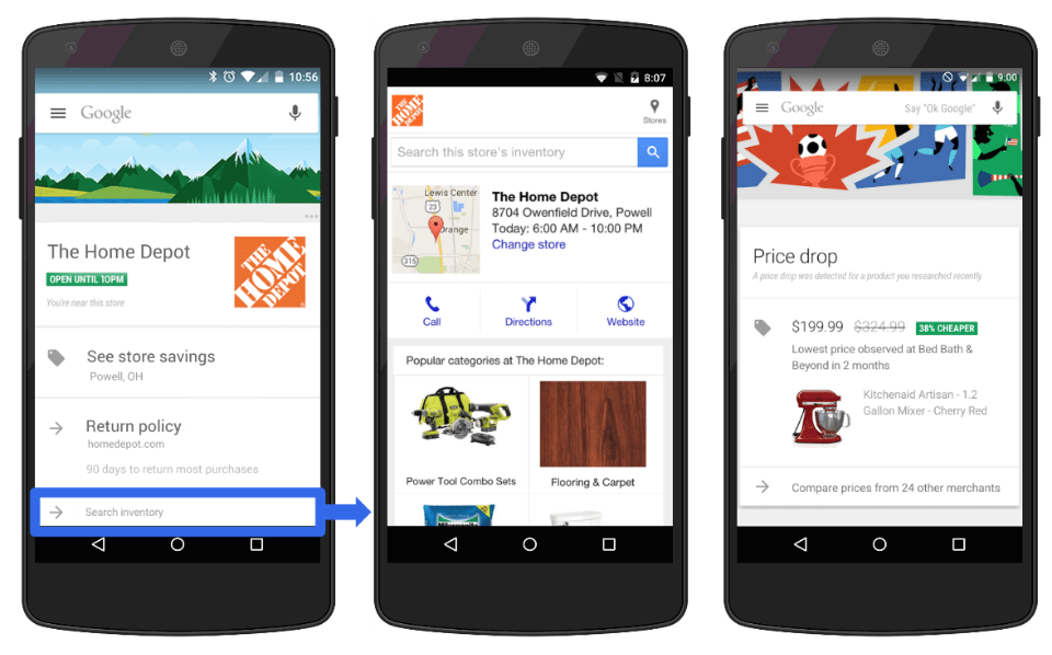Google Now In Store Cards