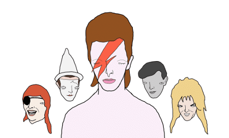 David Bowie by Chris Simpsons Artist