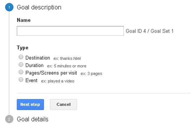 Google Analytics - Goal Tracking