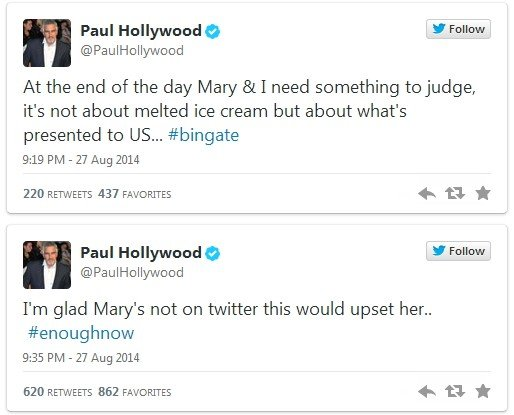 Great British Bake Off - Paul Hollywood Twitter