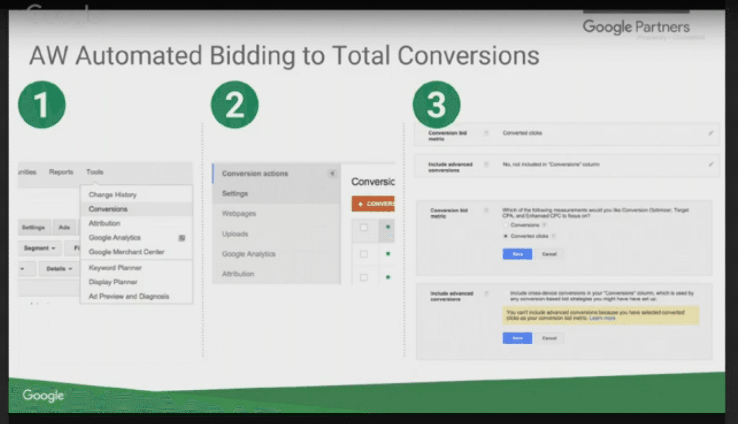 Google Elevenses - cross device conversion tracking - add to reporting