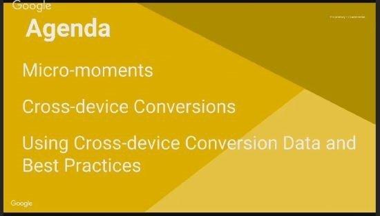 Google Elevenses - cross device conversion tracking - agenda