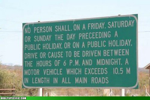 Human Centred Copywriting - a 47 word road sign - via Alvarez