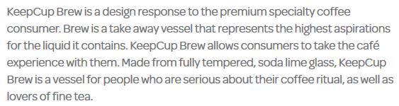 KeepCup Brew product description