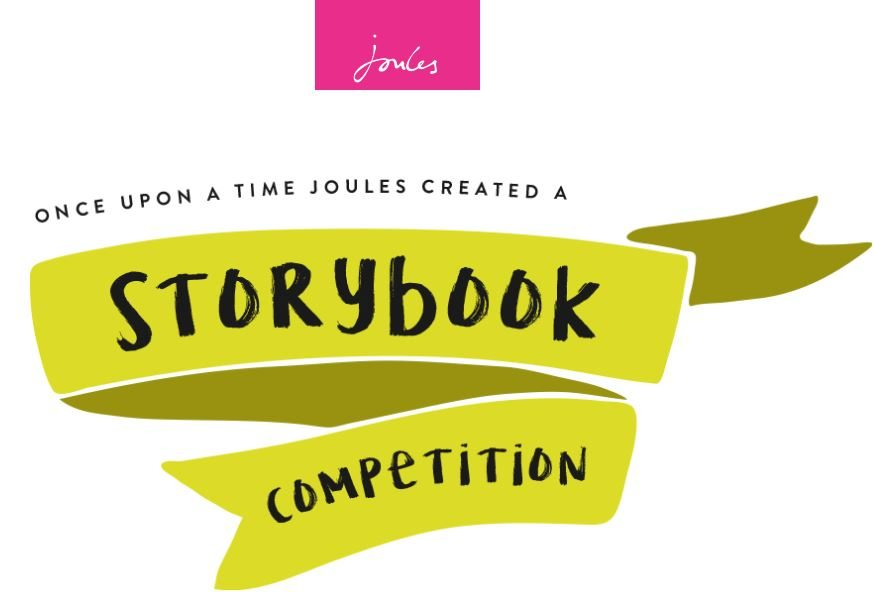 Marketing to kids - Joules storybook comeptition landing page - browser media