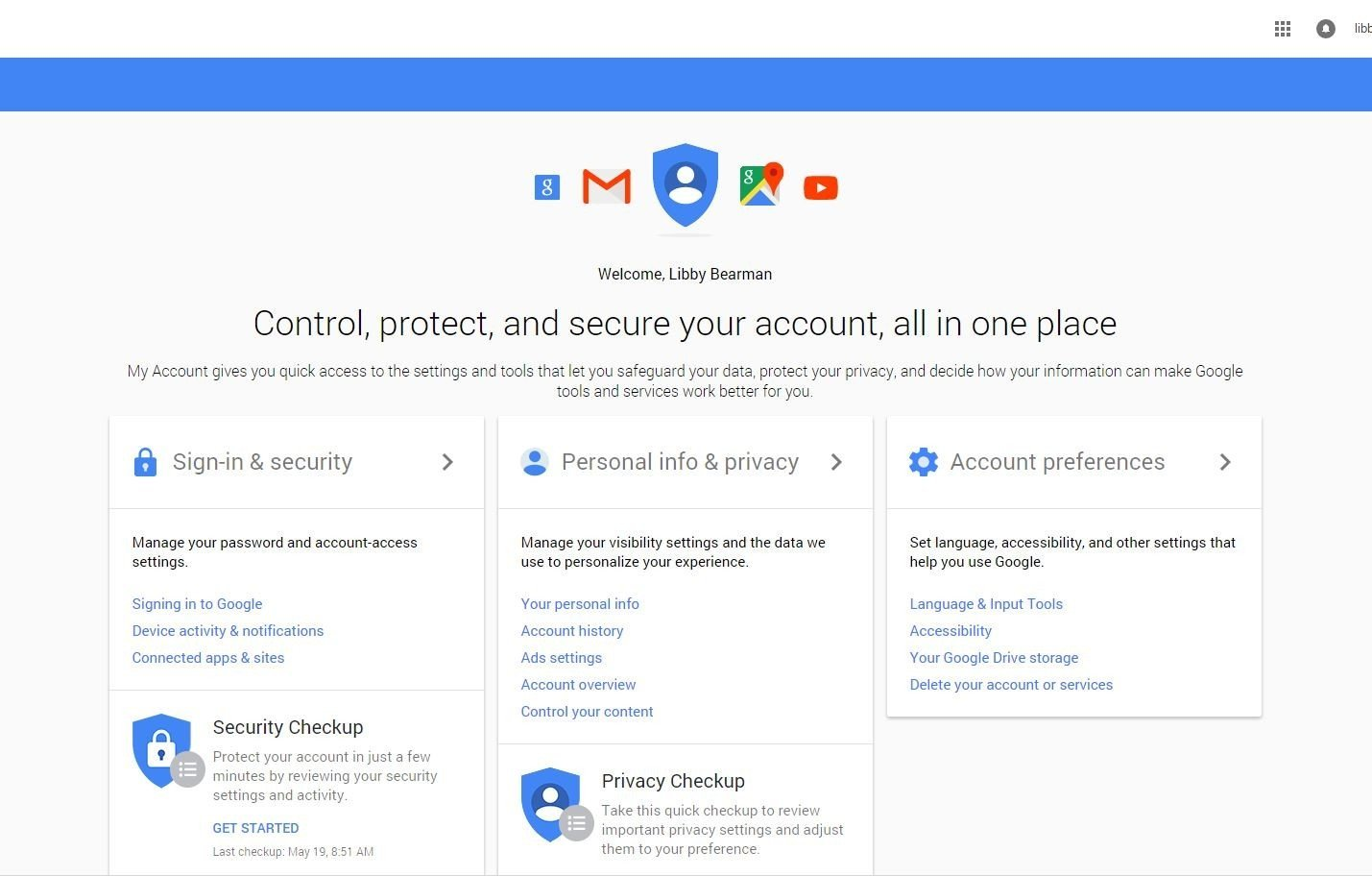 Personalisation - Google My Account - Browser Media