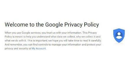 Personalisation - Google My Account