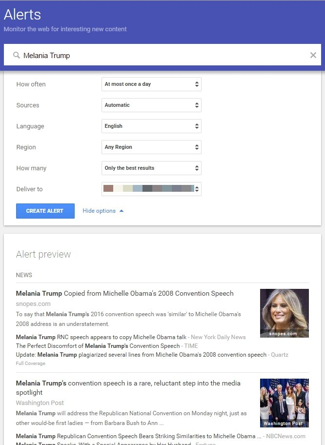 Plagiarism and SEO - Melania Trump Michelle Obama - Browser Media