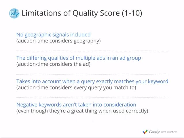 limitations of quality score