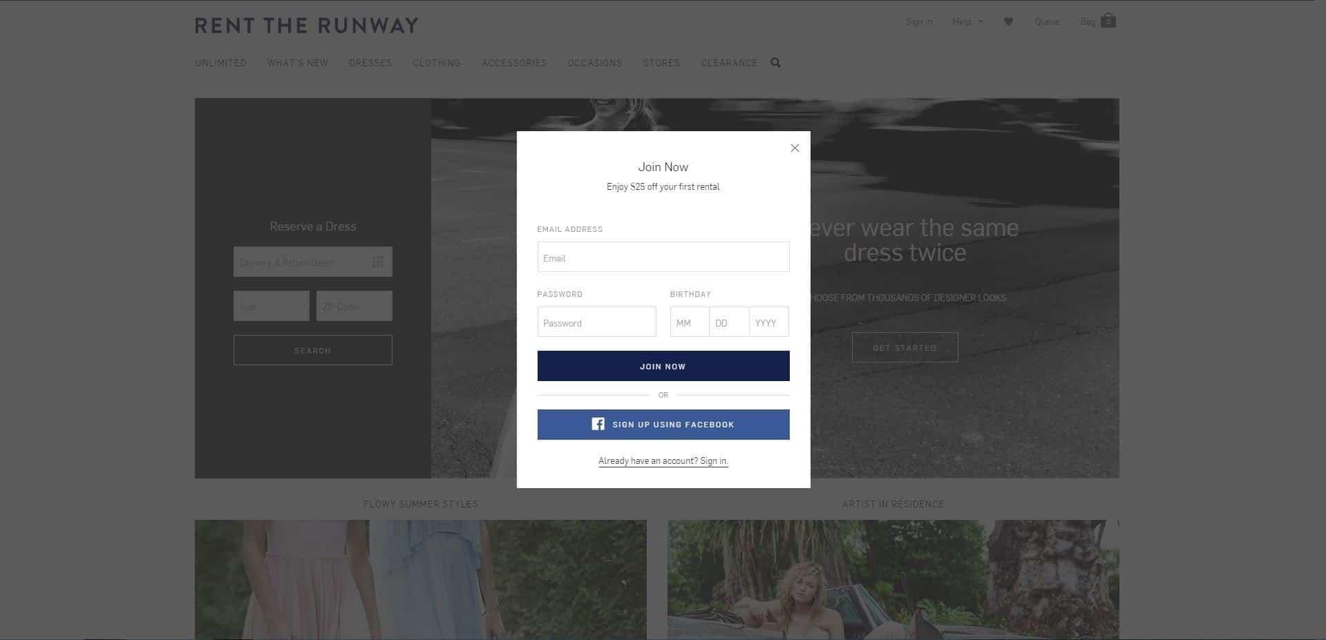 Rent The Runway - reciprocity - browser media