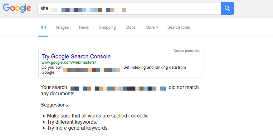 SERPs - site indexing issues