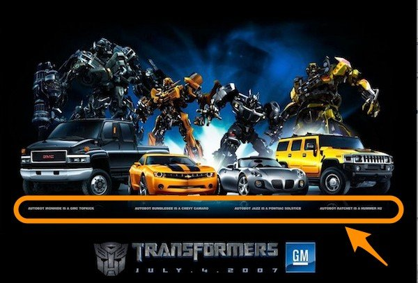 Transformers - Vehicle Advertising