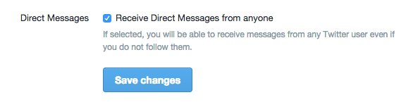 Twitter direct message - my five - browser media
