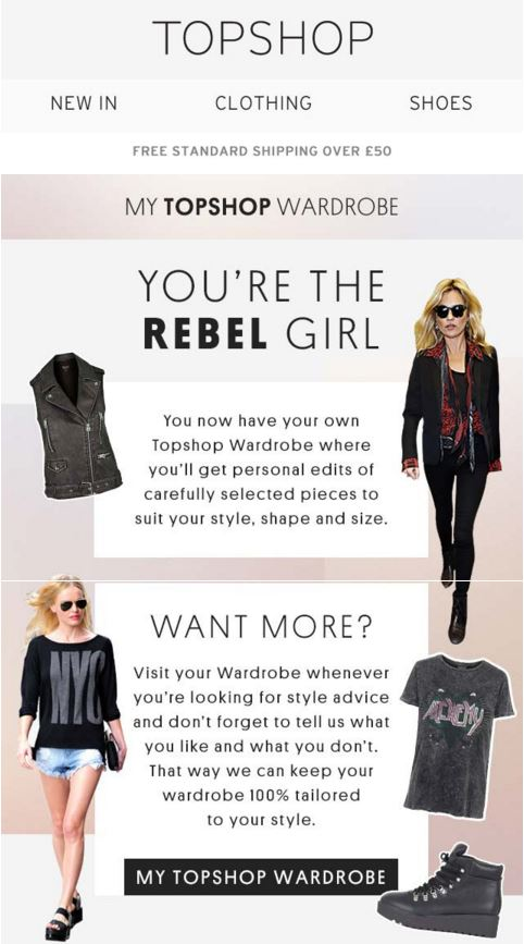 Personalisation in marketing - You're the Rebel Girl