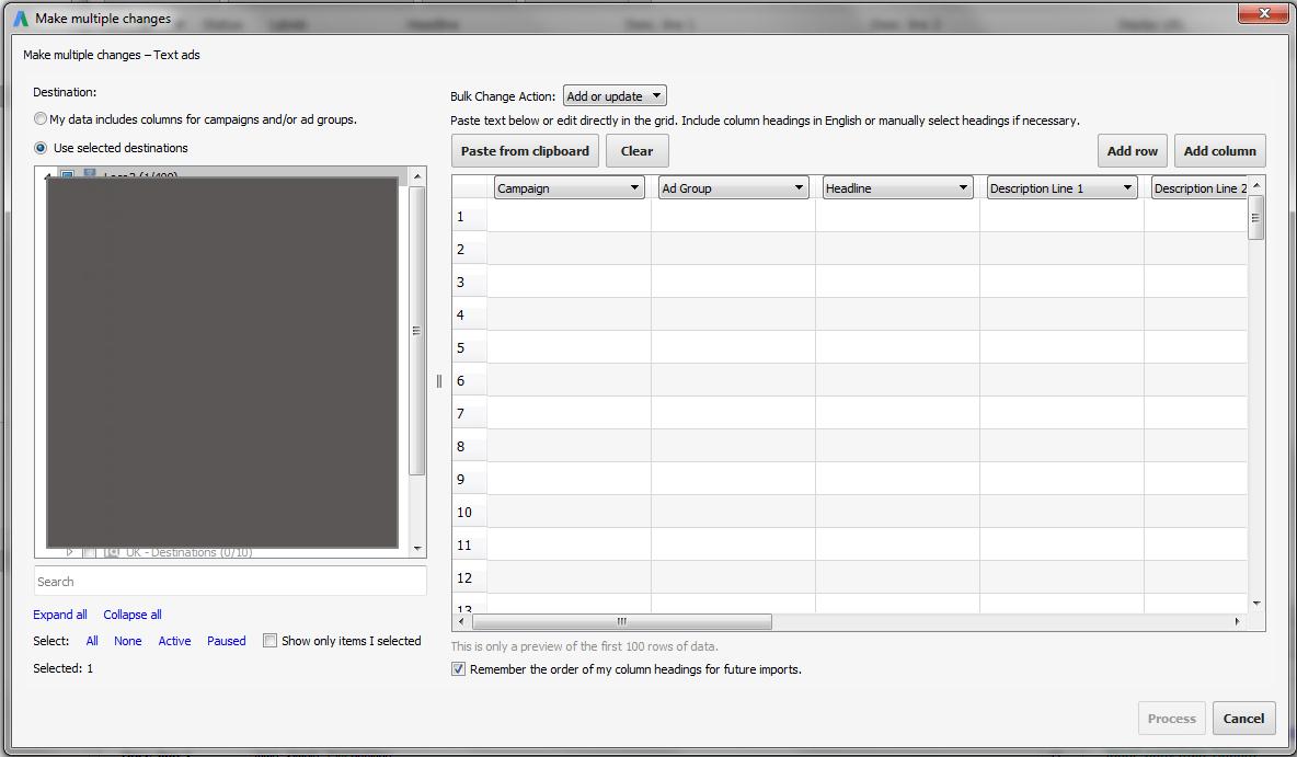 make multiple changes google editor