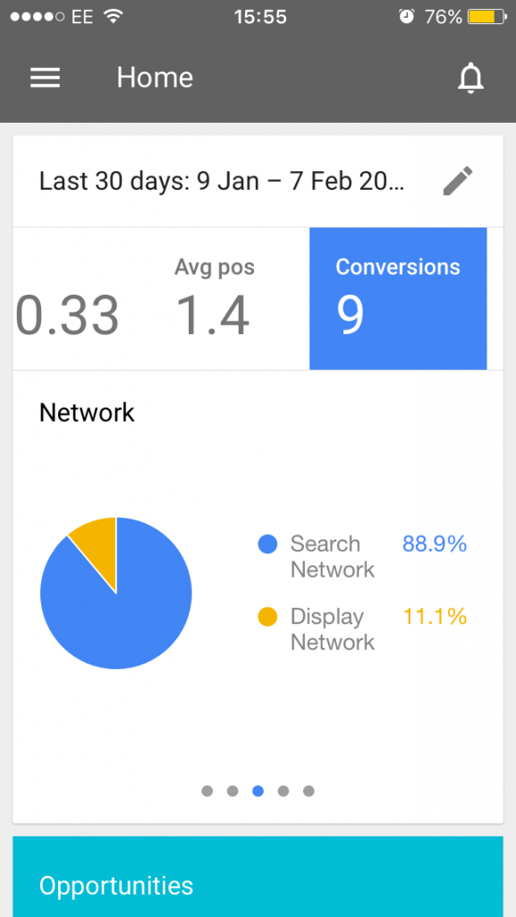 AdWords App - Networks