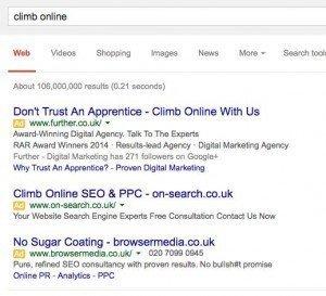 climb-online PPC LOLZ - my five - browser media