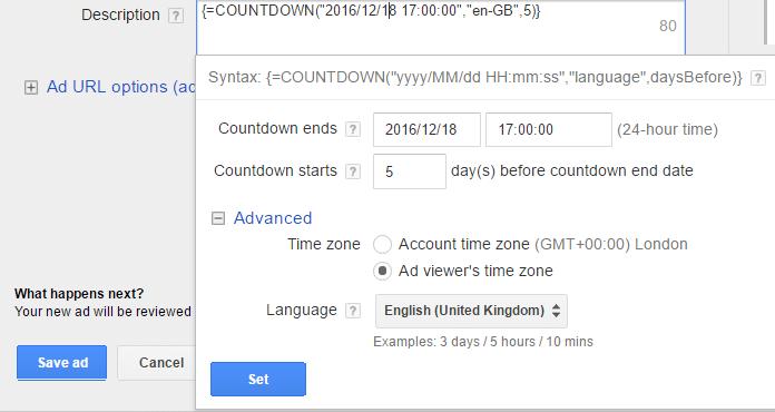 adwords-countdown-customiser