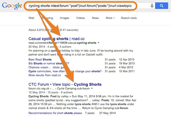 'cycling shorts' Alternative Google Discussion Search