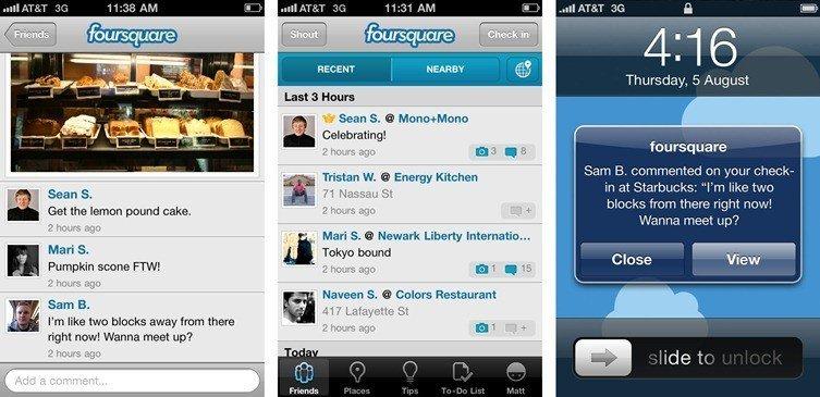 foursquare updates