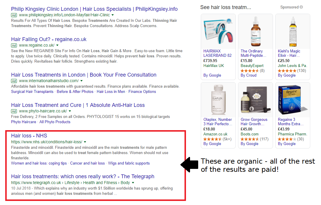 C:\Users\Vic\Desktop\hair_restoration_organic_and_paid_search_results.png