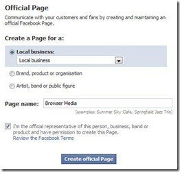 how to create a facebook page 1