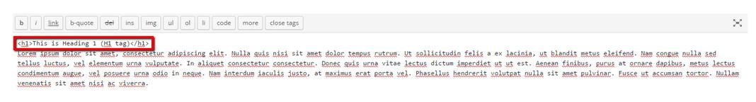 WordPress text view
