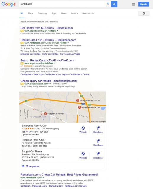 SERPs AFTER - Google Ads - Browser Media