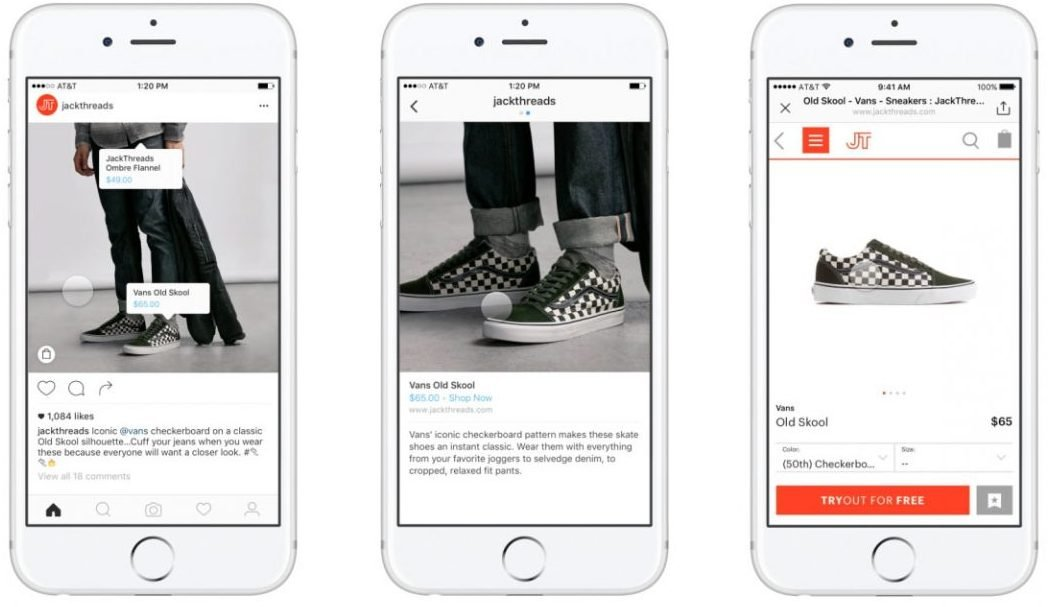 Buy products in just a few clicks without having to leave Instagram