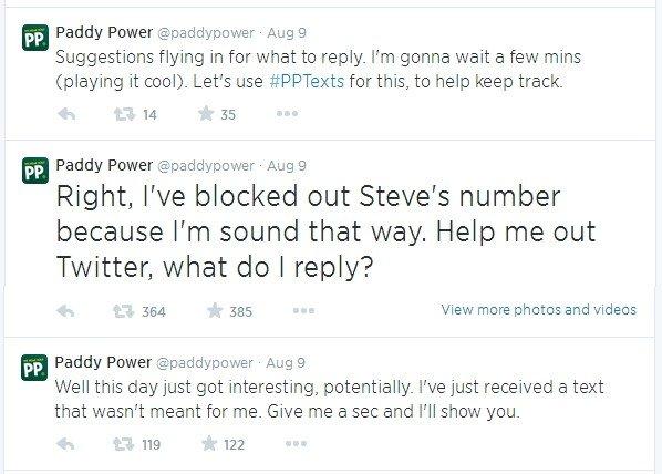 Paddy Power Twitter Stream