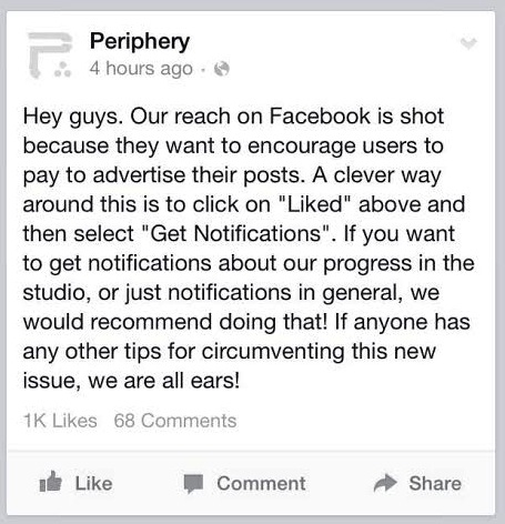 Periphery Facebook Page Post