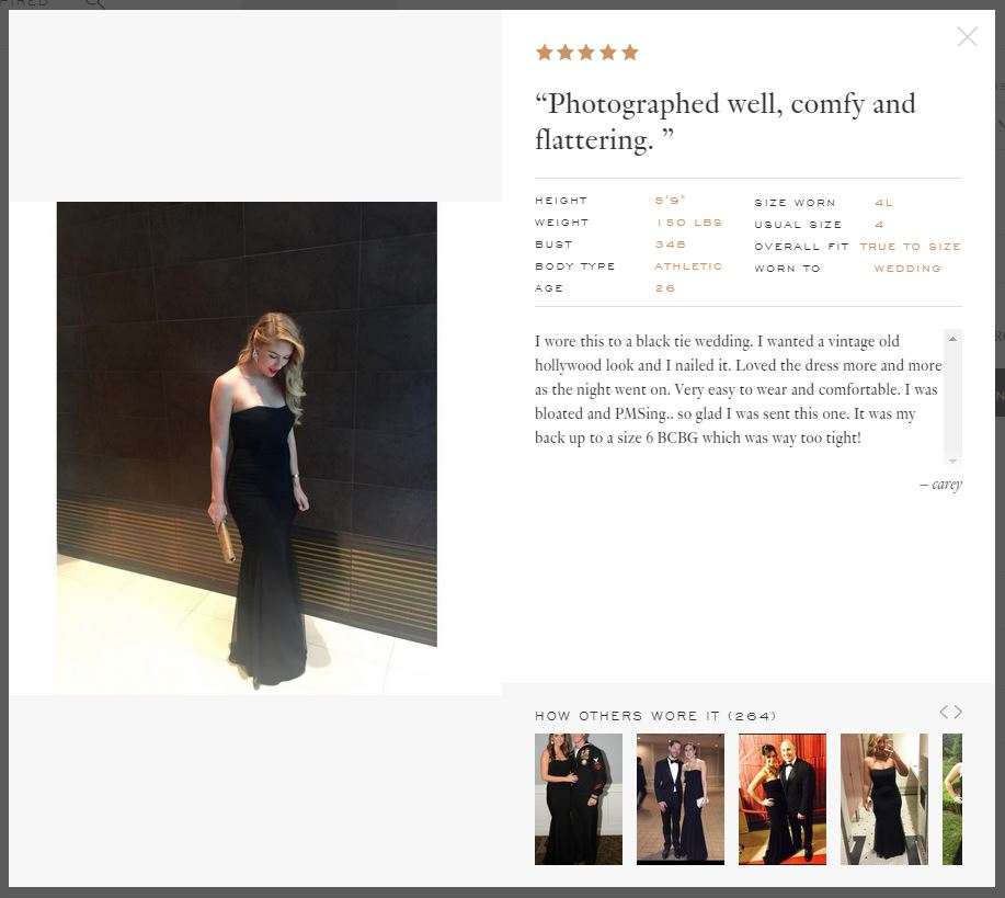 rent the runway social proof example